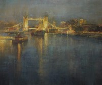 Nocturne, HMS Belfast & Tower Bridge by Benjamin Warner