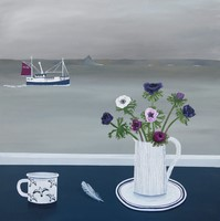 Mounts Bay with Anemones by Gemma Pearce