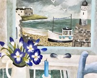 Irises and mussells by Sarah Bowman