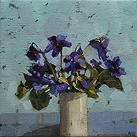 Violets by Anne-Marie Butlin