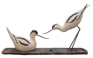 Avocets by Geoffrey Bickley