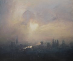 Summer haze, Thames by Benjamin Warner
