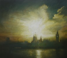 Last light, Westminster by Benjamin Warner