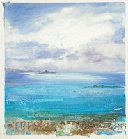 Blue sea under a moody Sky, Tresco by Amanda Hoskin