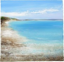 Blue Waters and White Sand at Pentle Bay Tresco by Amanda Hoskin