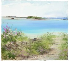 Path Down to the Beach, Bryher by Amanda Hoskin