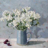 Freesias and Cherries by Anne-Marie Butlin