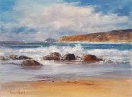 Incoming breakers, Sennen Cove by David Rust