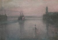 Morning mist, Newlyn by Benjamin Warner