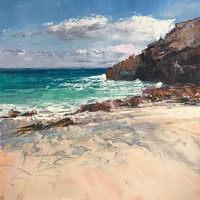 Outgoing Tide, Portheras Beach by Rachael Mia Allen