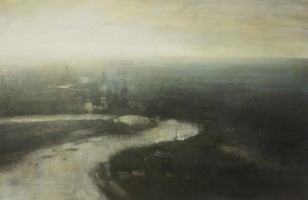 Thames towards O2 Arena & Distant City  by Benjamin Warner