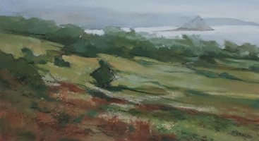 Across the fields from the studio by Michael Praed