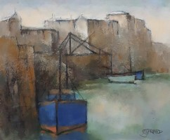 Harbour blue bows and crane by Michael Praed