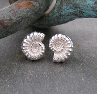 Ammonite studs<br>Earings from £72 by Fay Page