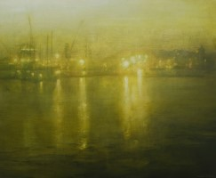 Still evening, Falmouth Docks by Benjamin Warner