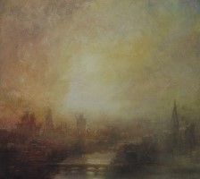 Sunset, Thames by Benjamin Warner