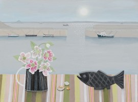 Early Mousehole with Rogers slate fish by Gemma Pearce