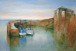 Harbour, evening light by Michael Praed