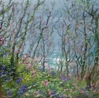 Cornish Elms, Campion and Bluebells by Mark Preston