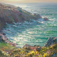 High Tide and Sunlight, Veor Cove by Mark Preston