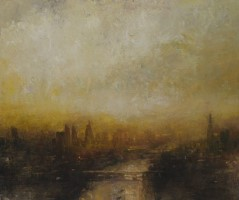 Golden light over the Thames by Benjamin Warner
