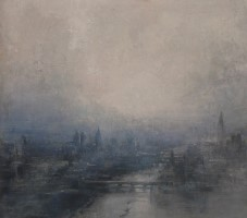 Hazy light, City skyline by Benjamin Warner