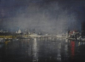 Nocturne, Blackfriars Bridge, City skyline by Benjamin Warner
