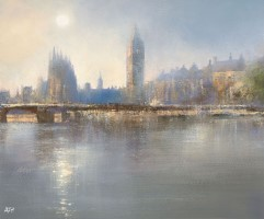 Beautiful light over the Thames  by Amanda Hoskin