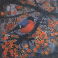 The Bullfinch in January (The Hare and the Moon) by Catherine Hyde