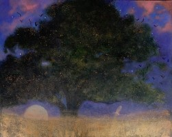 Through the oak's mass by Catherine Hyde