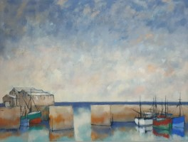 Winter sky above the harbour by Michael Praed