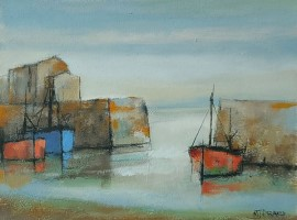 Winter harbour by Michael Praed
