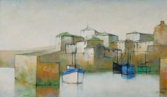 Harbour front and village by Michael Praed