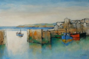 Harbour in bright light by Michael Praed