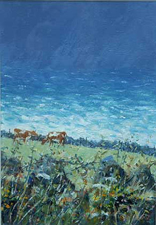 Sea and cows by Robert Jones