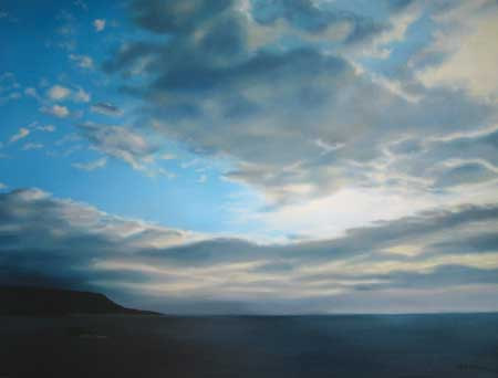 Early morning, sun and cloud by Nicola Wakeling