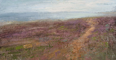 Fields of Cornish heather and sea by Benjamin Warner