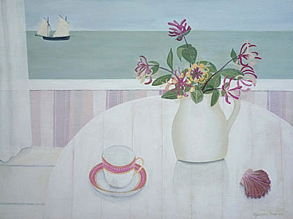 Cornish Lugger & Honeysuckle by Gemma Pearce
