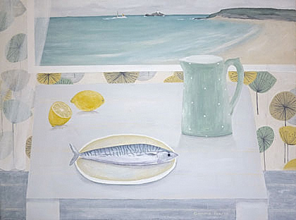 Godrevy view and Mackerel by Gemma Pearce