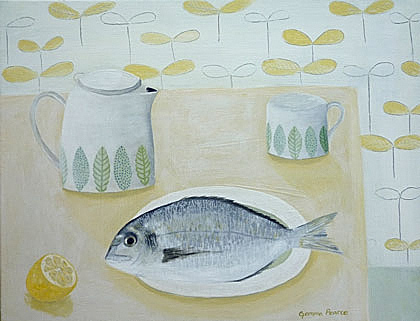 Seabream for supper by Gemma Pearce