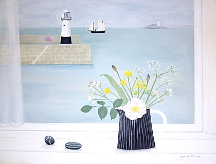 St Ives with wild flowers by Gemma Pearce