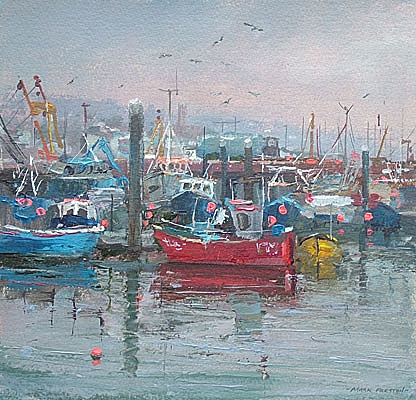 February afternoon, Newlyn by Mark Preston
