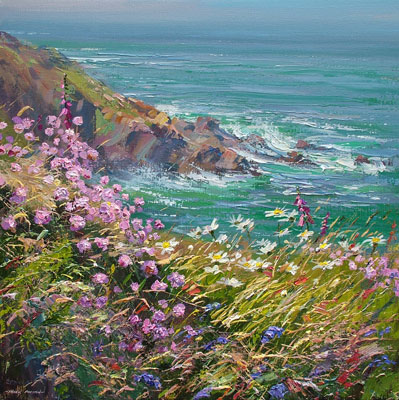 Clifftop flowers, Hor Point by Mark Preston