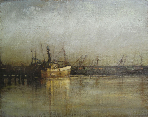 Early morning, Newlyn by Benjamin Warner