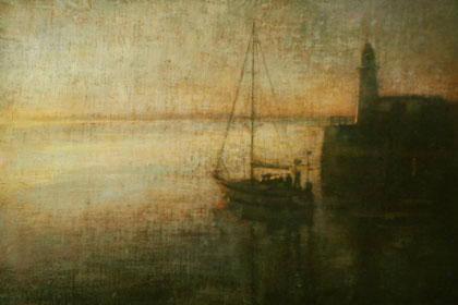 Leaving South Pier, Newlyn by Benjamin Warner