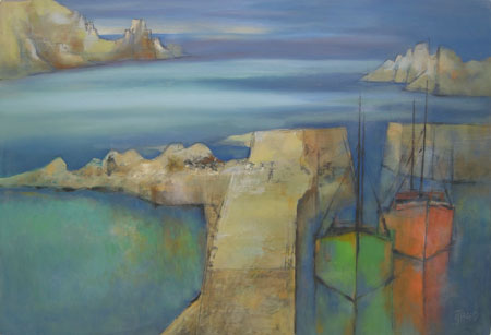 Cliff harbour by Michael Praed