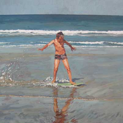 The skimboarder by David Axtell