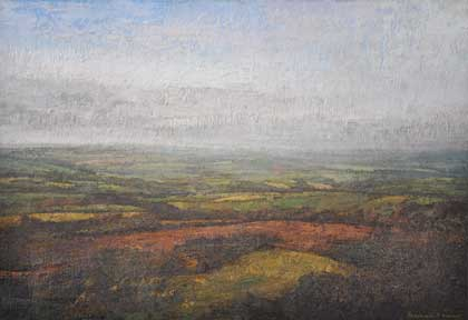 Distant landscape from Kit Hill by Benjamin Warner