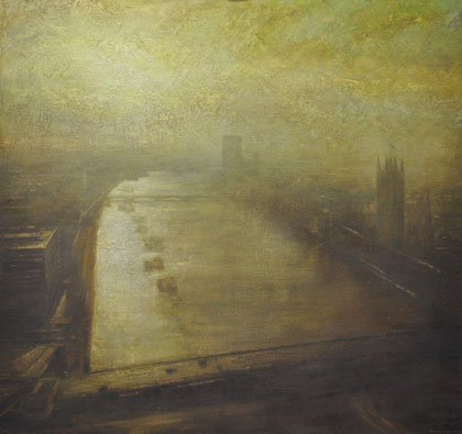 Winter sun, the Thames by Benjamin Warner