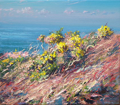 Gorse, Trevean Cliffs by Mark Preston